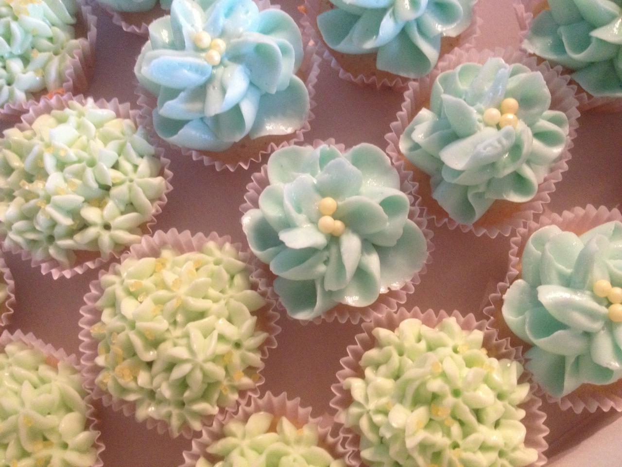 Cupcakes Blüten