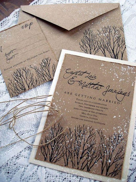 Einladung Hochzeit Weihnachten Schnee