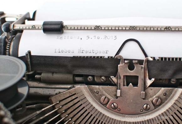 Vintage Schreibmaschine Hochzeit Deko HoneyHome