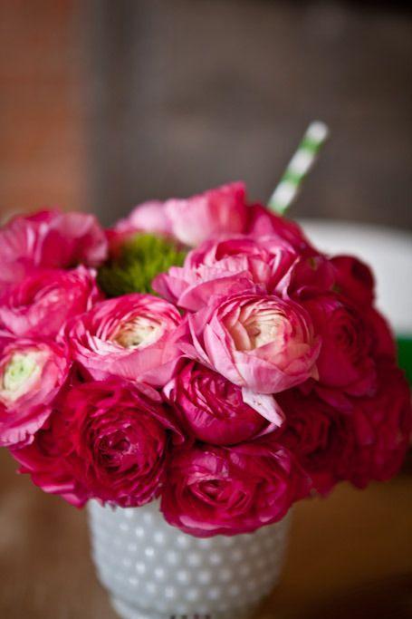 Ranunkel Tischdeko Hochzeit Pink Mademoiselle No More