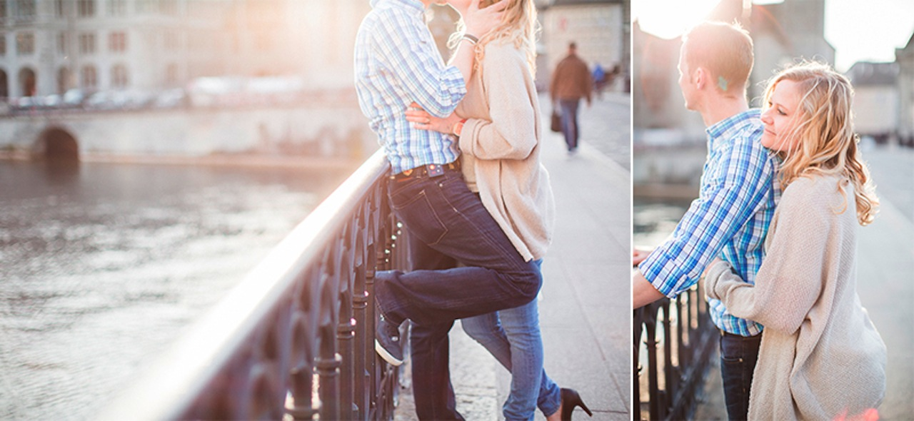 Engagement-Shooting Zürich Limmatquai Sandra Marusic