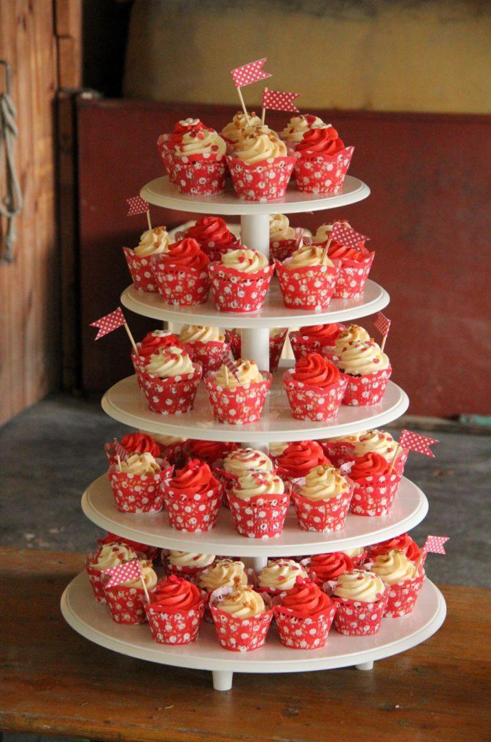 Cupcake Candy Bar Rot Vintage (Large)