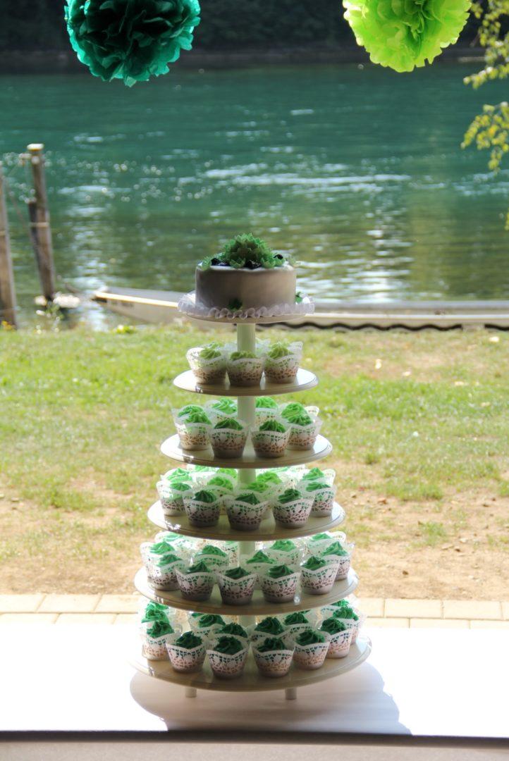 Cupcake Turm Grun Hochzeit Vintage Large Mademoiselle No More
