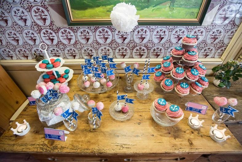 Hochzeit Sylt Candybar Blau Pink