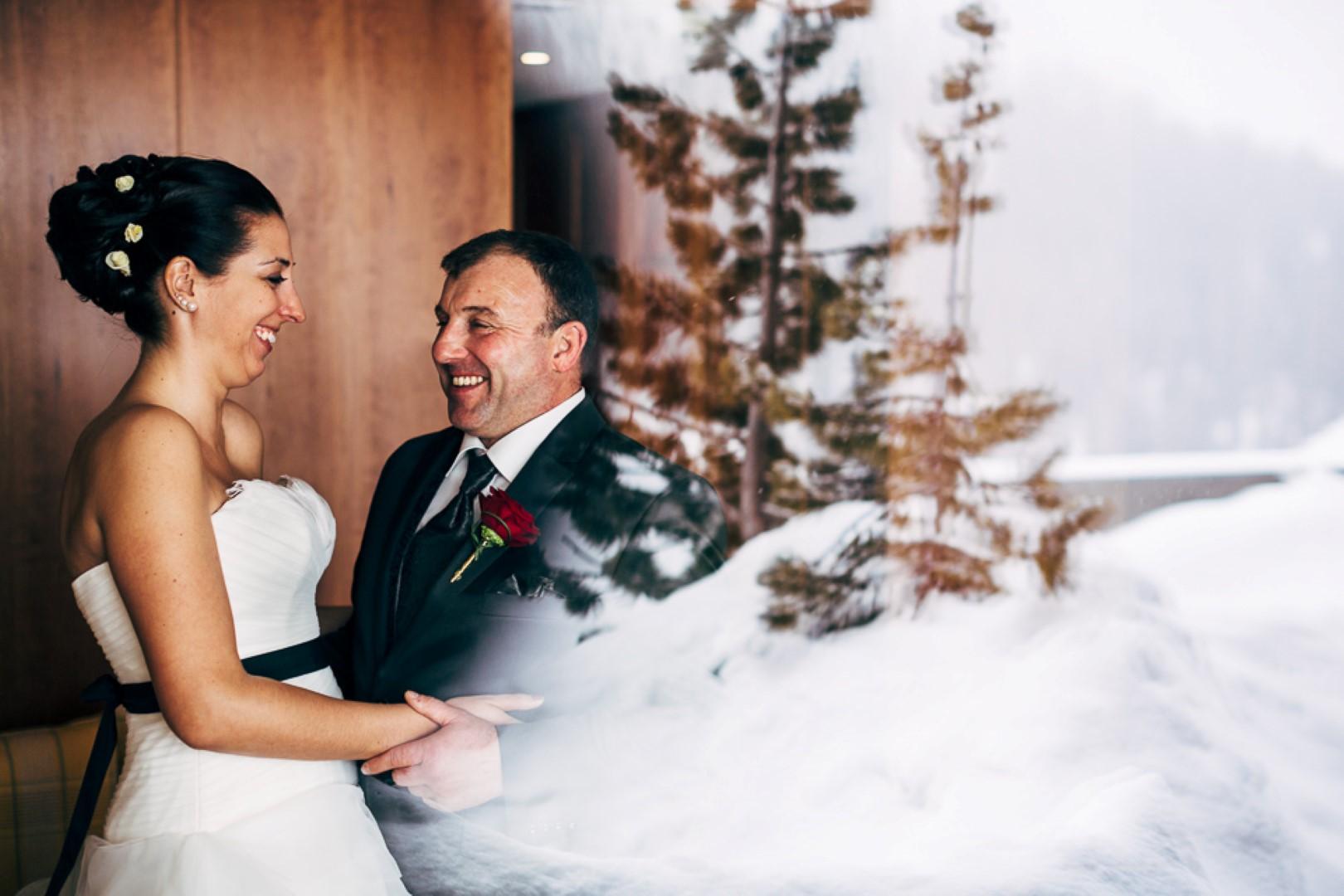 Hochzeit von Danielle und Andy in Arosa vom 01. März 2014.