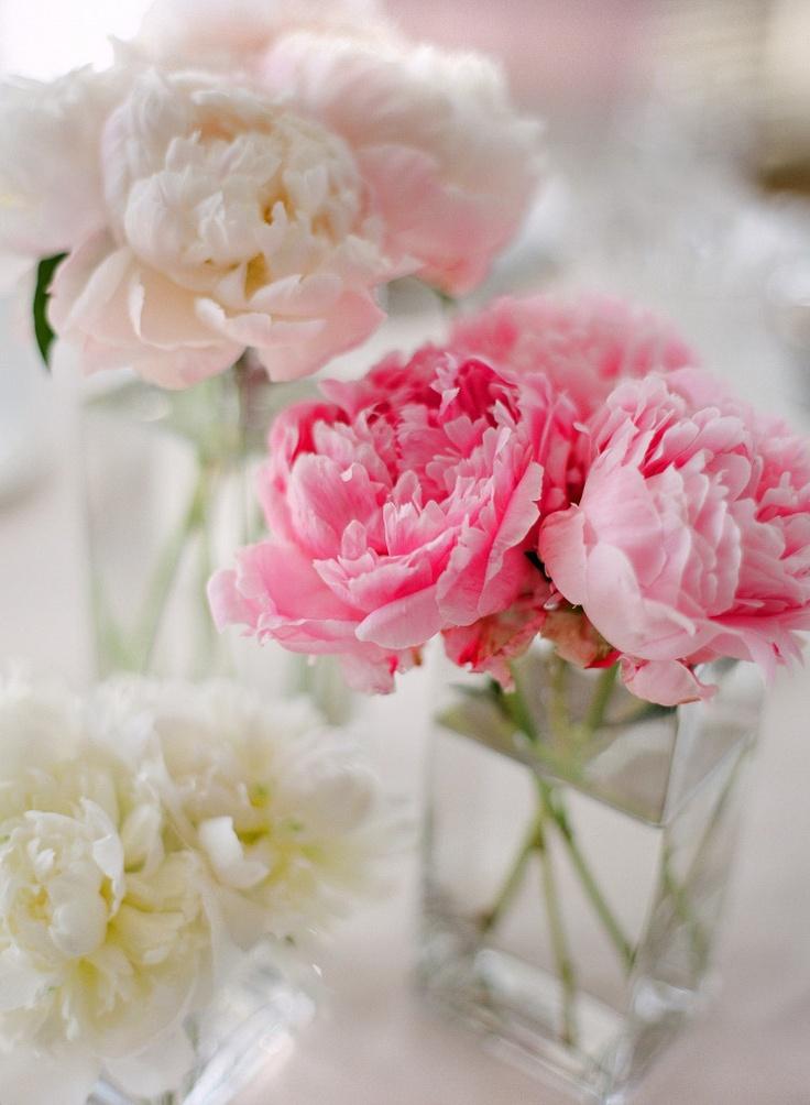tischdeko hochzeit pfingsrosen rosa pink mademoiselle no. Black Bedroom Furniture Sets. Home Design Ideas