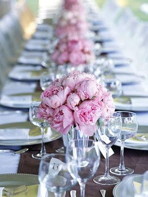 tischdeko pfingstrosen rosa hochzeit mademoiselle no. Black Bedroom Furniture Sets. Home Design Ideas