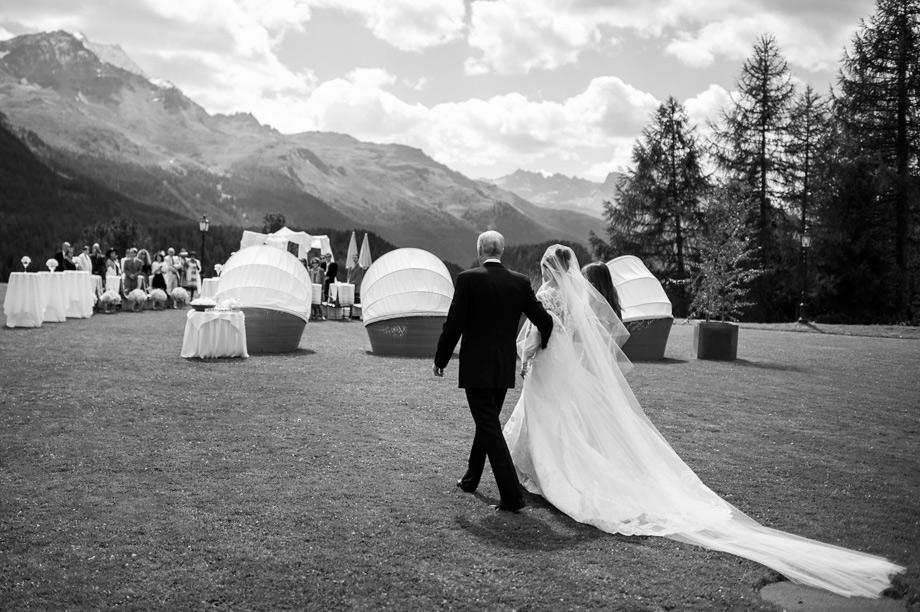 Hochzeit St. Moritz Suvretta Zeremonie Outdoor