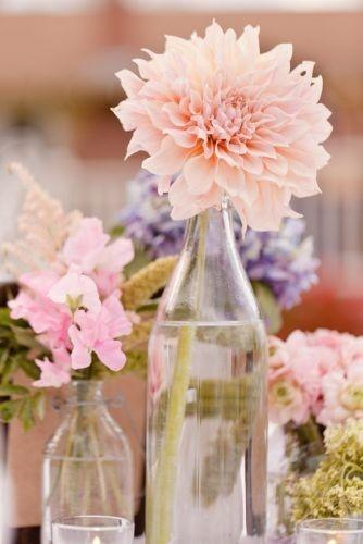 Tischdeko Vintage Hochzeit Dalien Rosa Pastell Mademoiselle No
