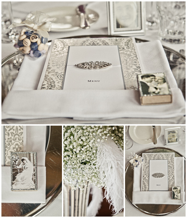 Vintage-Hochzeit-Karten