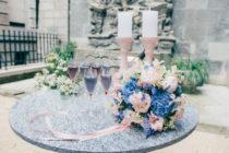 Styled Shooting Zürich Hochzeitsinpiration Brautstrauss Pastell Prinzessin Frühling Hochzeit Schleier Brautkleid Rosa Blau Fotoshooting Tree of Love Gästebuch Papeterie Hortensien